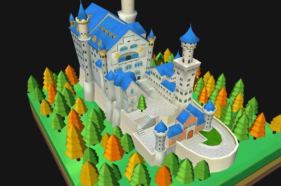 World Architecture neuschwanstein castle royalty-free 3d model - Preview no. 3