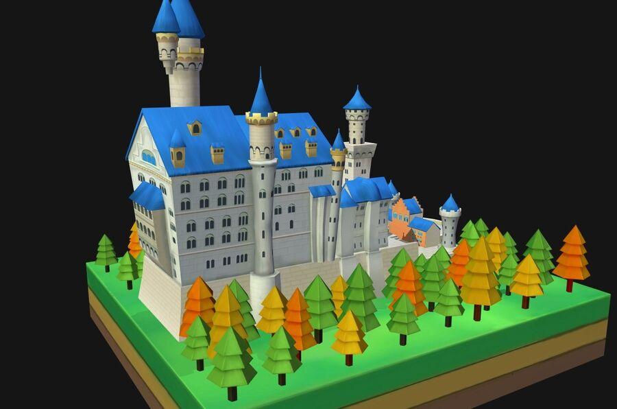 World Architecture neuschwanstein castle royalty-free 3d model - Preview no. 10