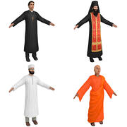 Priests PACK 3d model