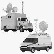 TV 트럭 컬렉션 3d model