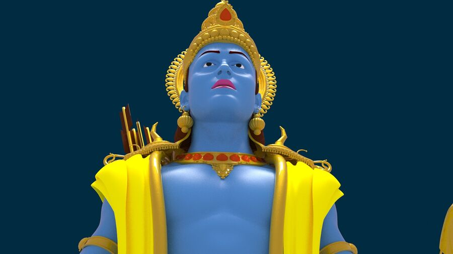 Lord Ram royalty-free 3d model - Preview no. 2