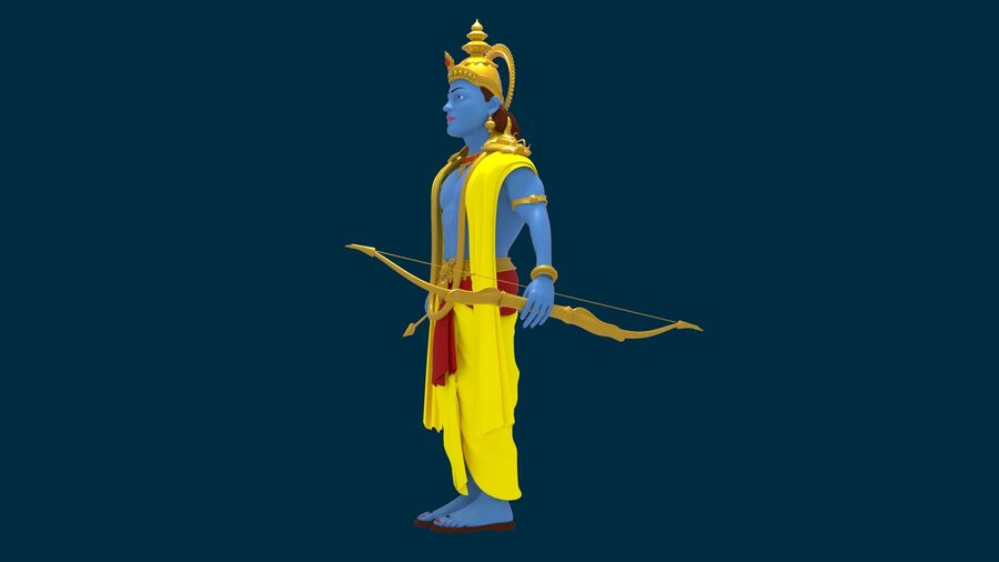 Lord Ram royalty-free 3d model - Preview no. 8