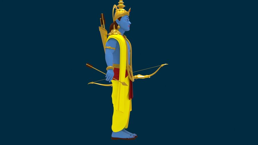 Lord Ram royalty-free 3d model - Preview no. 6