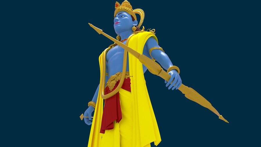 Lord Ram royalty-free 3d model - Preview no. 3