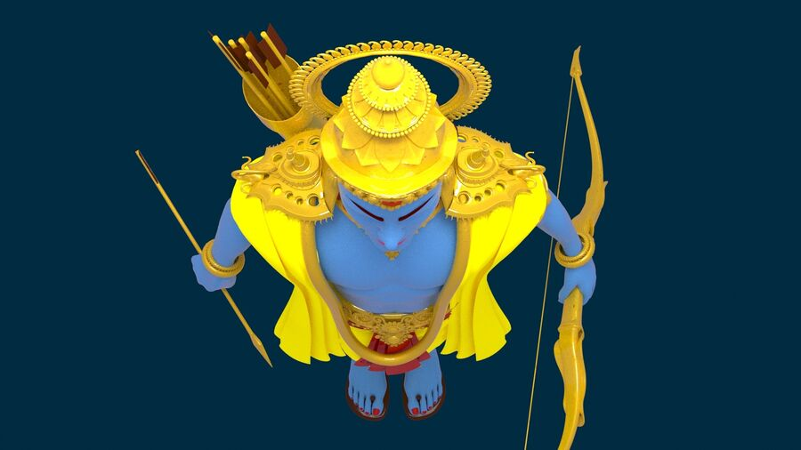 Lord Ram royalty-free 3d model - Preview no. 4