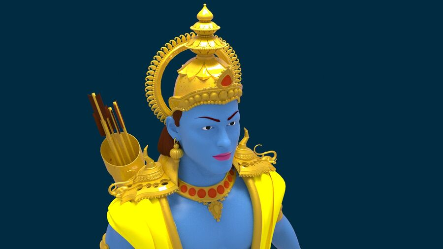 Lord Ram royalty-free 3d model - Preview no. 1