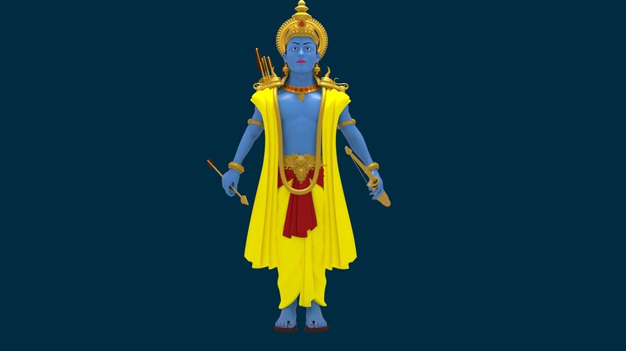 Lord Ram royalty-free 3d model - Preview no. 7