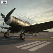 Vought F4U Corsair 3d model
