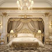 Royal Master Bedroom 3d model