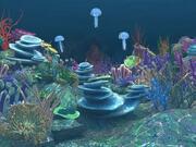 水中シーン 3d model