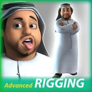 Arab Cartoon Character 3d model