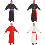 Catholic Cardinals 3d model