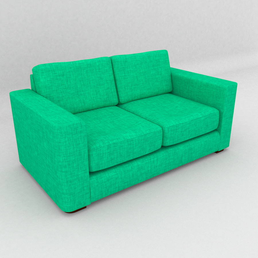 2 Seat Sofa royalty-free 3d model - Preview no. 10