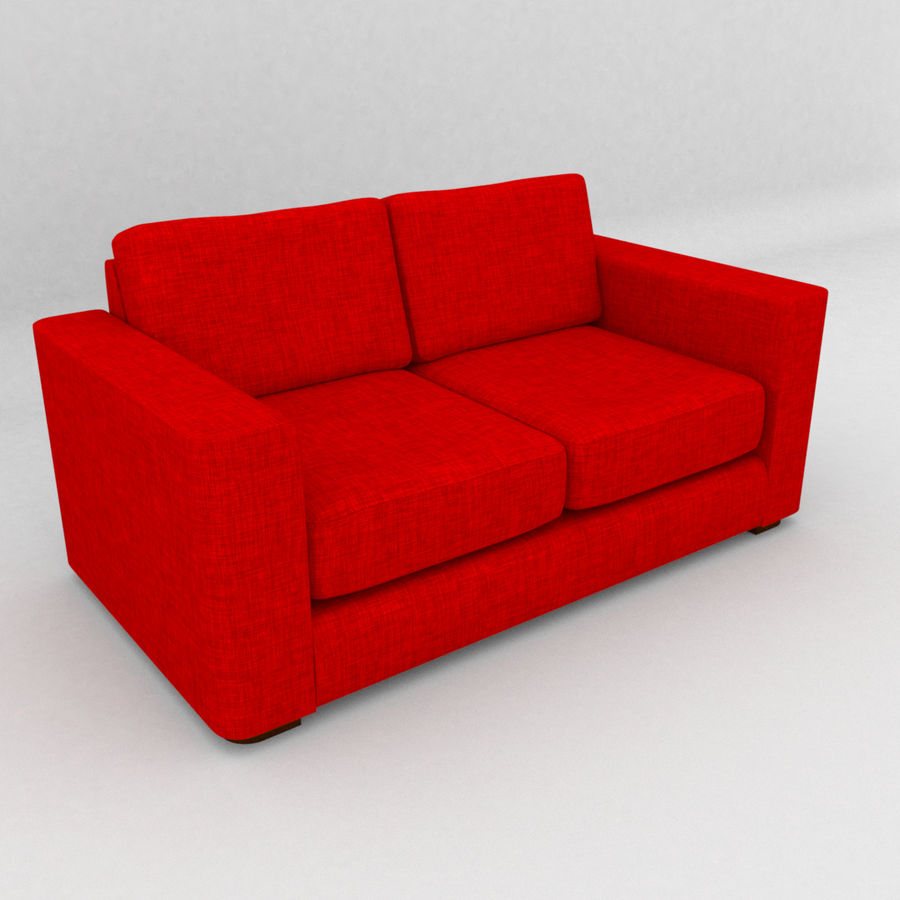 2 Seat Sofa royalty-free 3d model - Preview no. 2