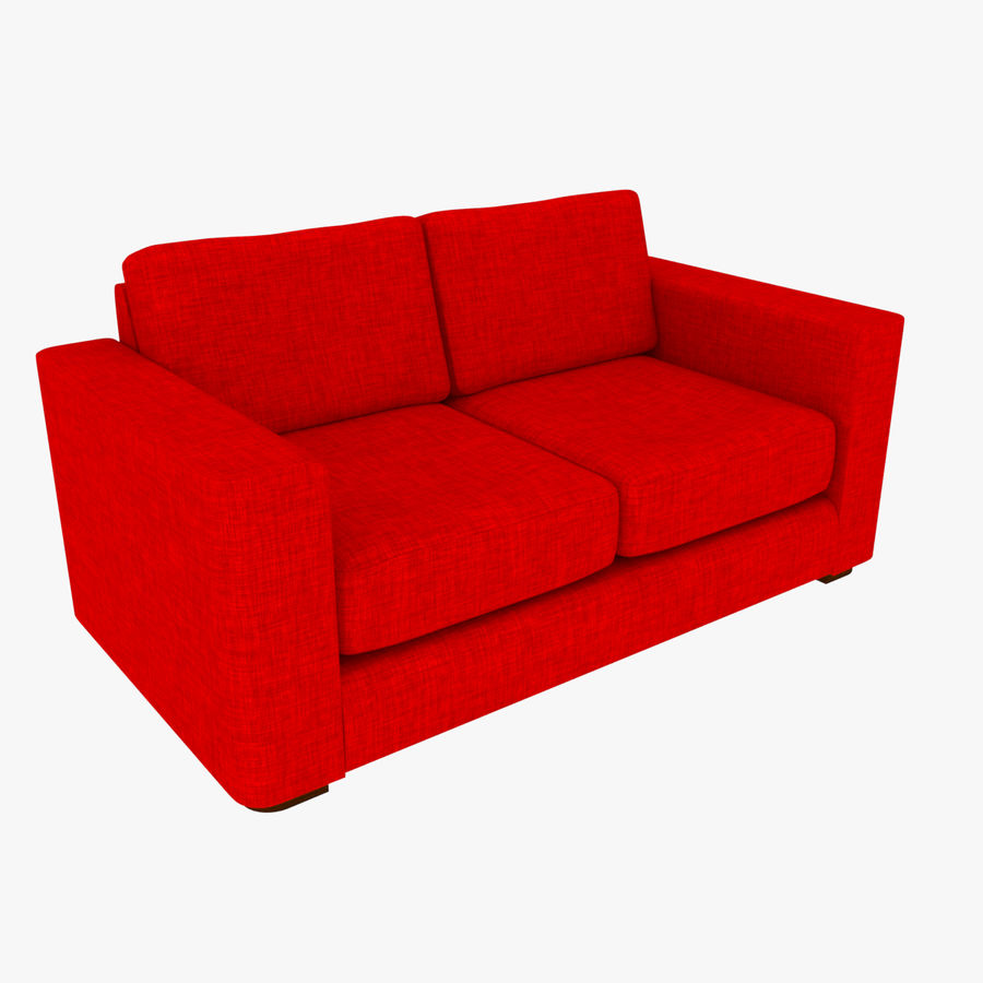 2 Seat Sofa royalty-free 3d model - Preview no. 1