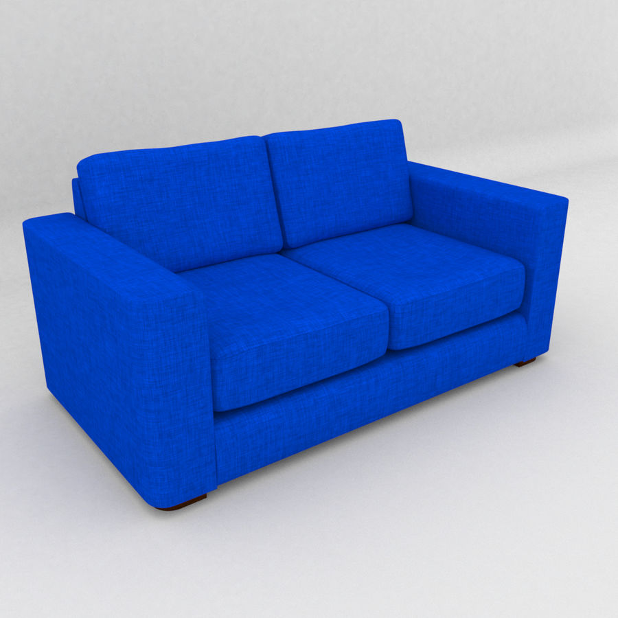 2 Seat Sofa royalty-free 3d model - Preview no. 9