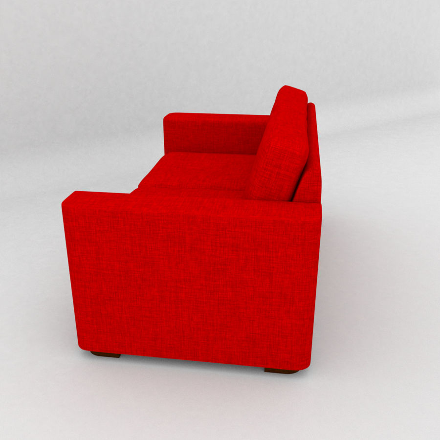 2 Seat Sofa royalty-free 3d model - Preview no. 5