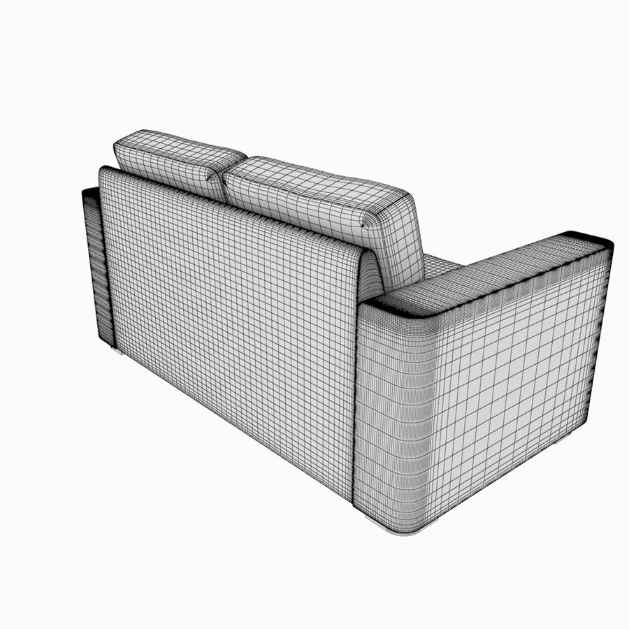 2 Seat Sofa royalty-free 3d model - Preview no. 8