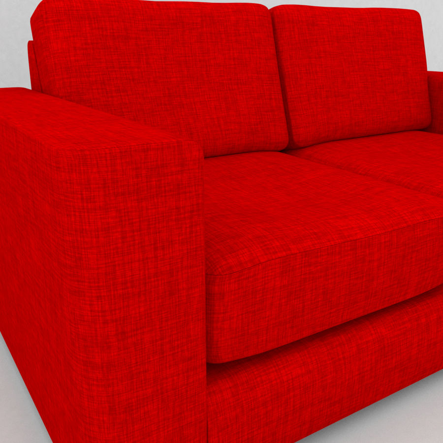 2 Seat Sofa royalty-free 3d model - Preview no. 3
