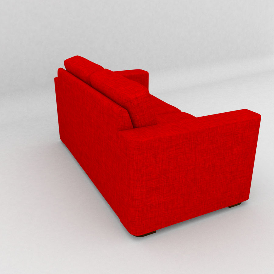 2 Seat Sofa royalty-free 3d model - Preview no. 4