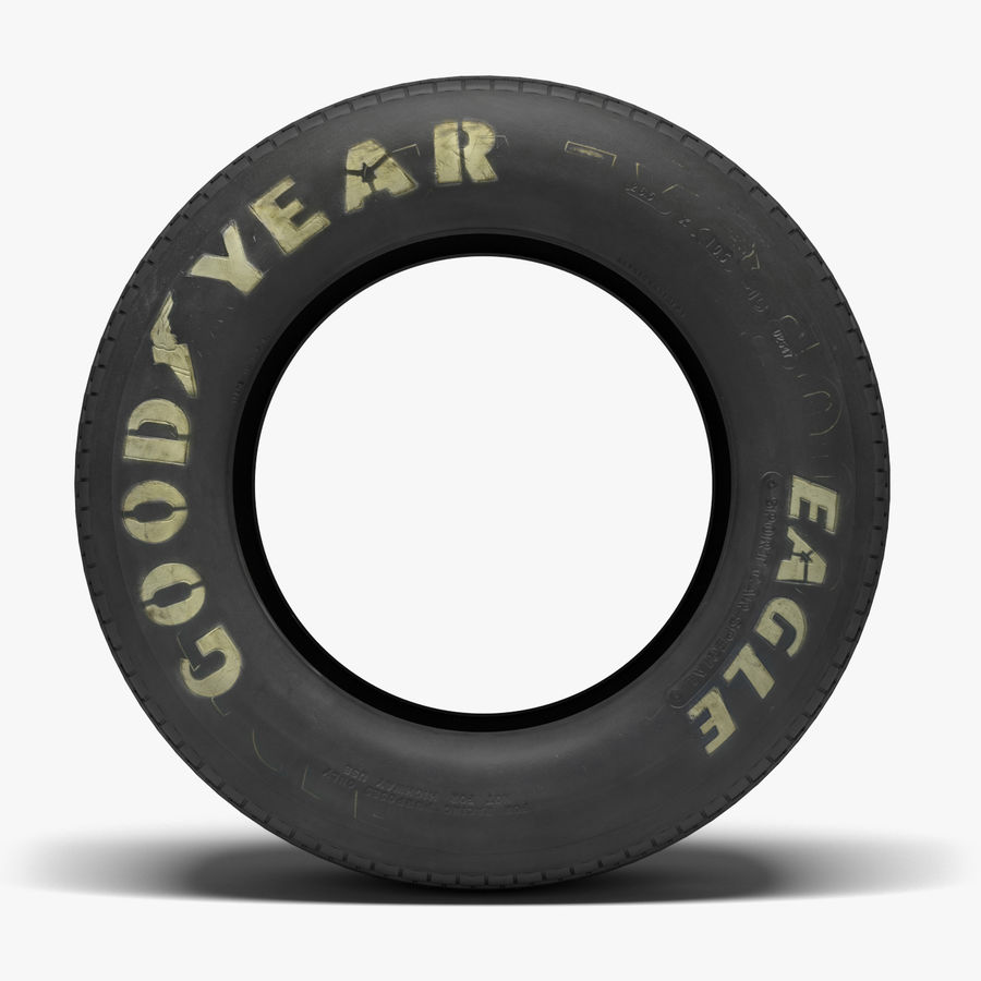 Goodyear Billboard Tire royalty-free 3d model - Preview no. 2