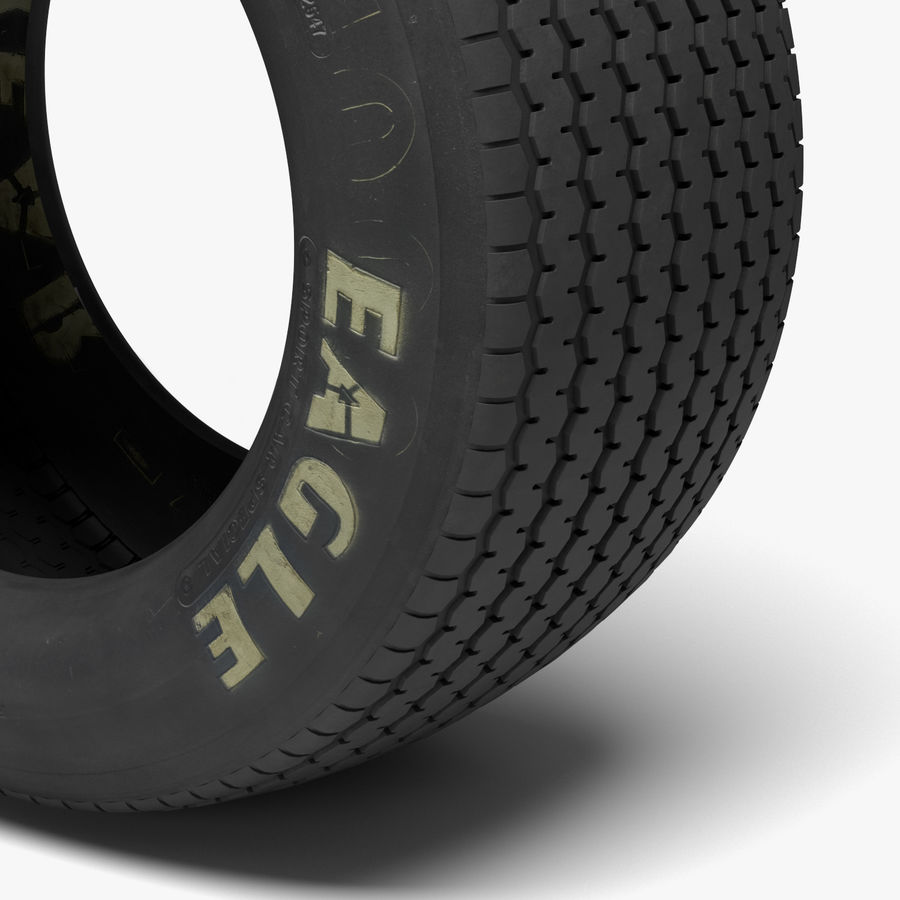 Goodyear Billboard Tire royalty-free 3d model - Preview no. 4