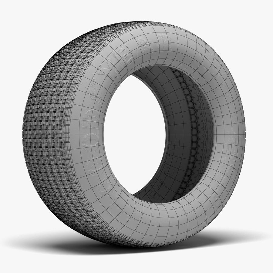 Goodyear Billboard Tire royalty-free 3d model - Preview no. 8