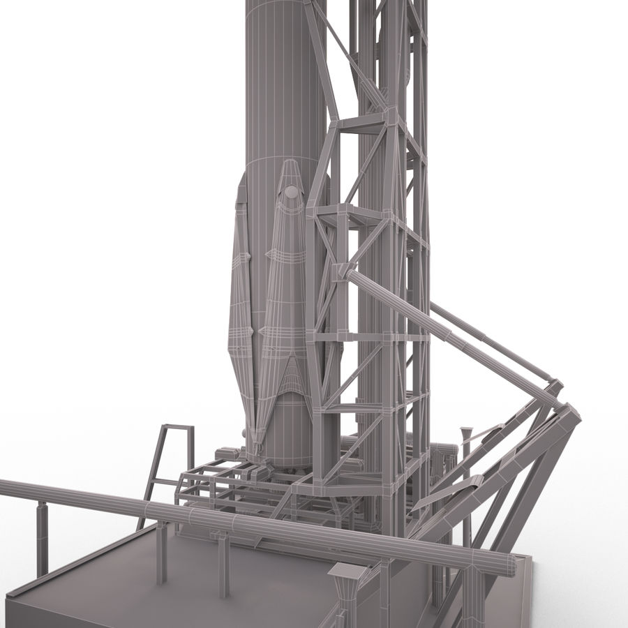 Space Rocket royalty-free 3d model - Preview no. 10