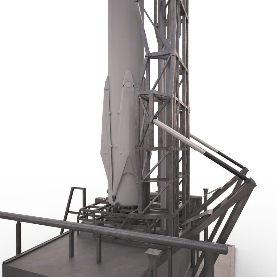 Space Rocket royalty-free 3d model - Preview no. 4