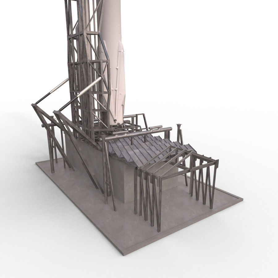 Space Rocket royalty-free 3d model - Preview no. 3