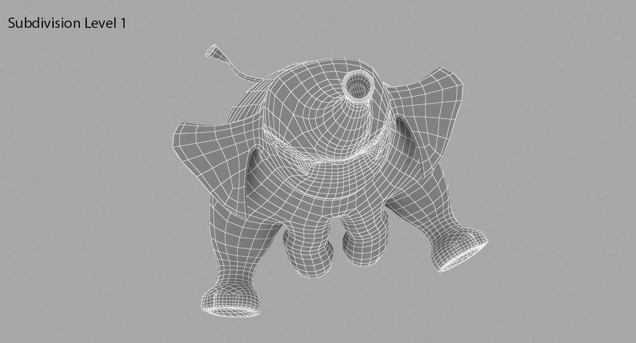 Éléphant de dessin animé royalty-free 3d model - Preview no. 19