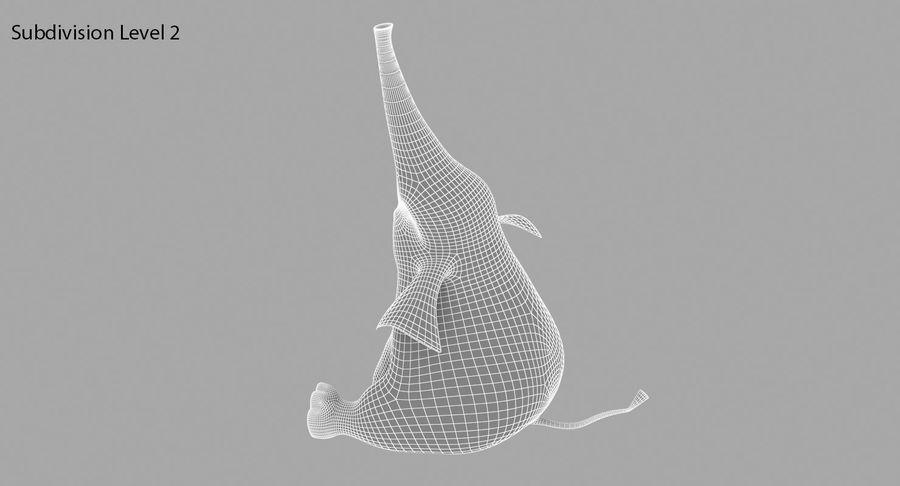 Éléphant de dessin animé royalty-free 3d model - Preview no. 17