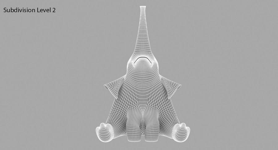 Éléphant de dessin animé royalty-free 3d model - Preview no. 14