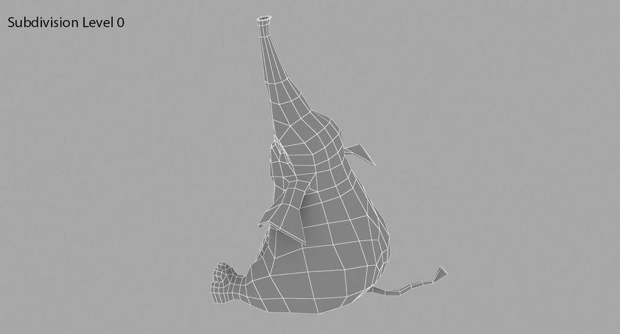 Éléphant de dessin animé royalty-free 3d model - Preview no. 15