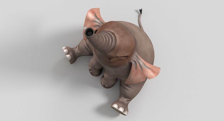 Éléphant de dessin animé royalty-free 3d model - Preview no. 8
