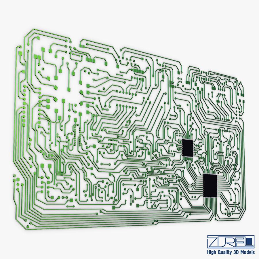 Elektronische Schaltung v 2 royalty-free 3d model - Preview no. 7