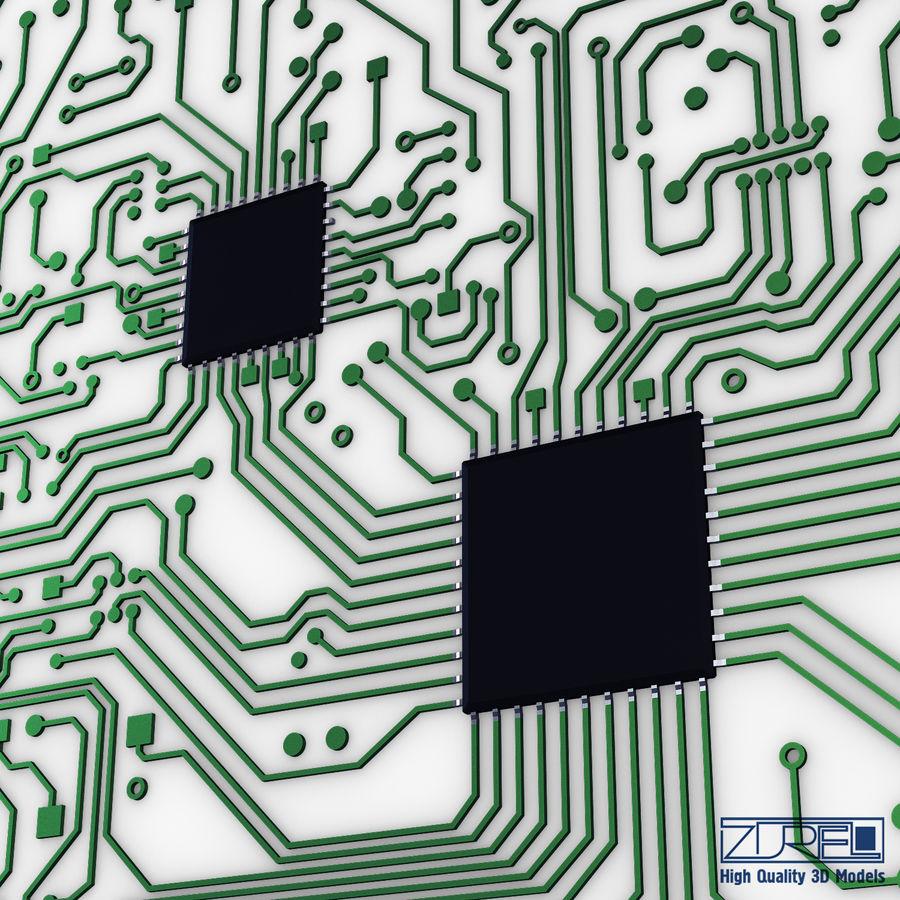 Elektronische Schaltung v 2 royalty-free 3d model - Preview no. 11