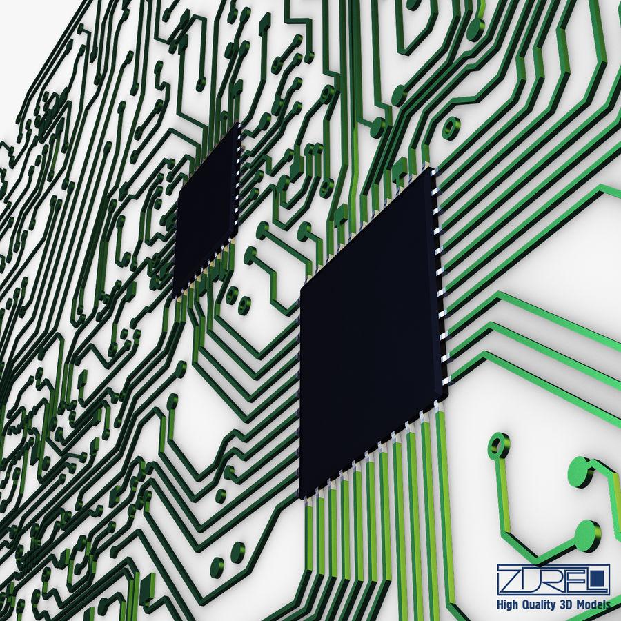Elektronische Schaltung v 2 royalty-free 3d model - Preview no. 13