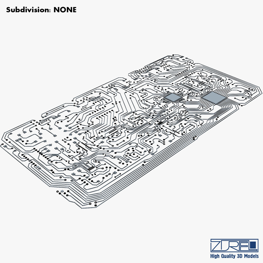 Elektronische Schaltung v 2 royalty-free 3d model - Preview no. 21