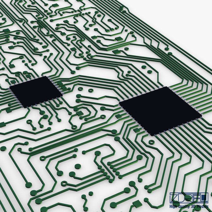 Elektronische Schaltung v 2 royalty-free 3d model - Preview no. 10