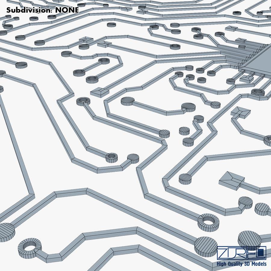 Elektronische Schaltung v 2 royalty-free 3d model - Preview no. 31