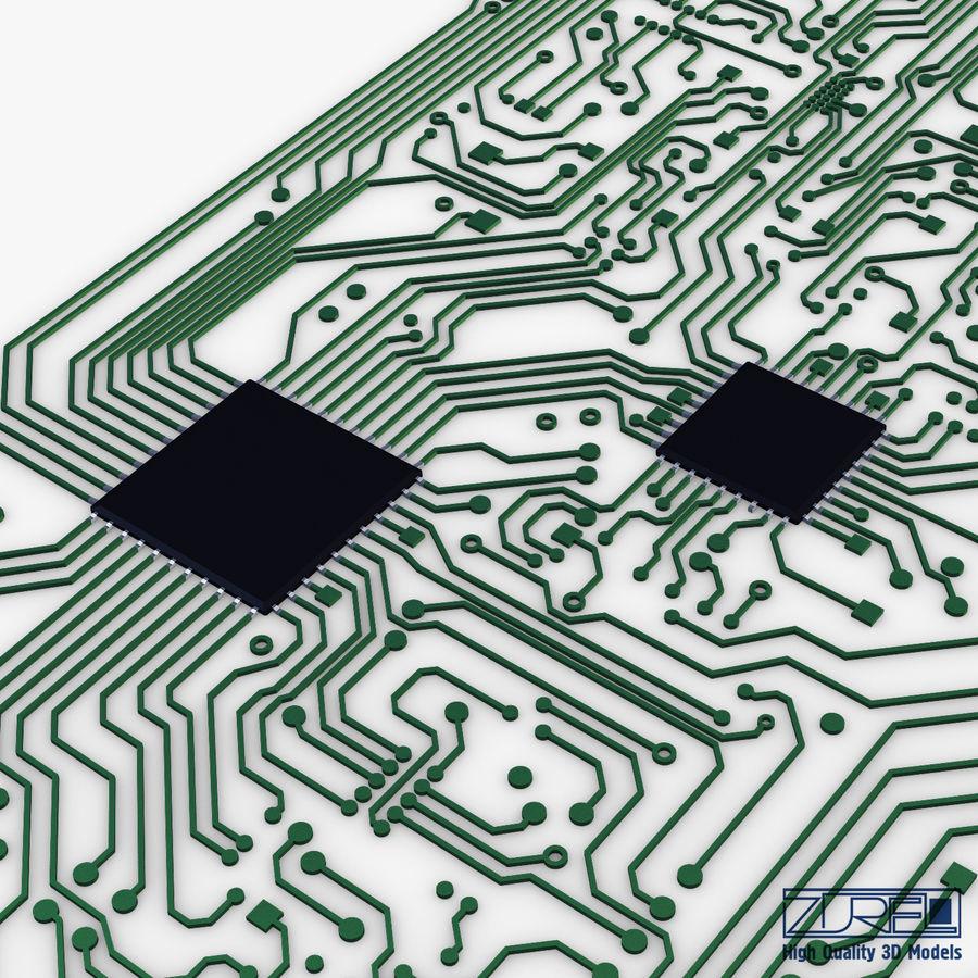 Elektronische Schaltung v 2 royalty-free 3d model - Preview no. 15