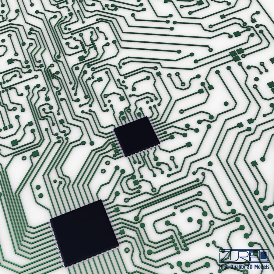 Elektronische Schaltung v 2 royalty-free 3d model - Preview no. 8