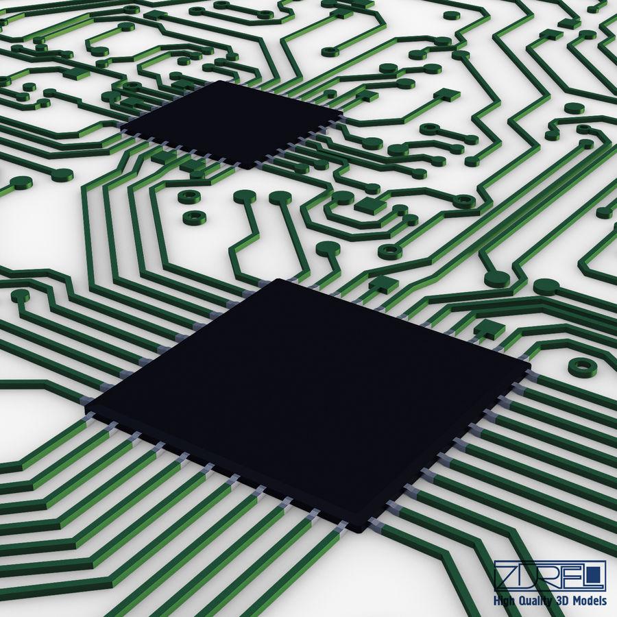 Elektronische Schaltung v 2 royalty-free 3d model - Preview no. 9
