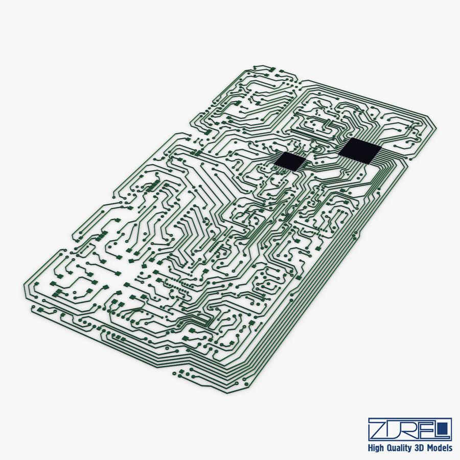 Elektronische Schaltung v 2 royalty-free 3d model - Preview no. 2