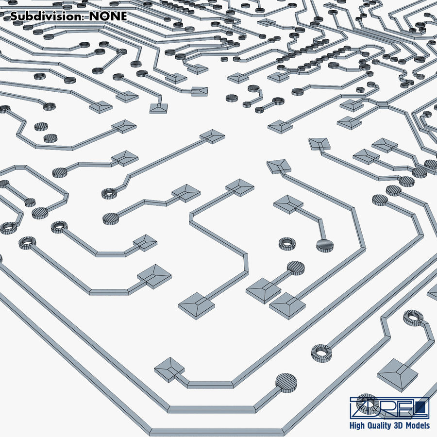 Elektronische Schaltung v 2 royalty-free 3d model - Preview no. 28