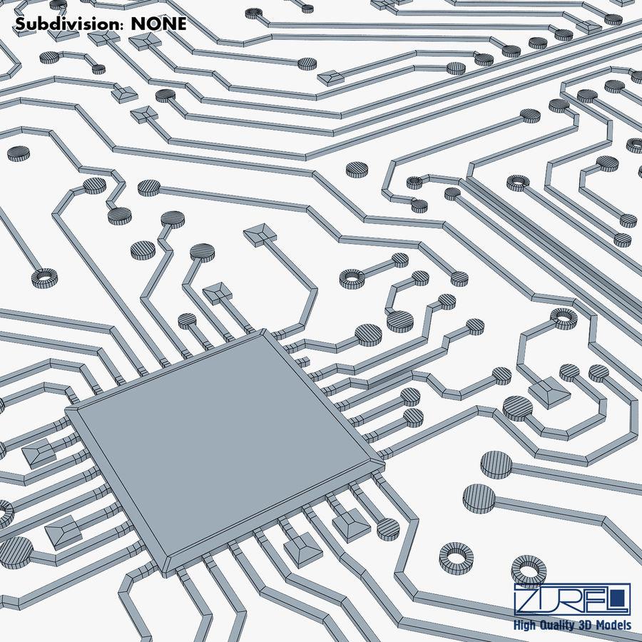 Elektronische Schaltung v 2 royalty-free 3d model - Preview no. 30