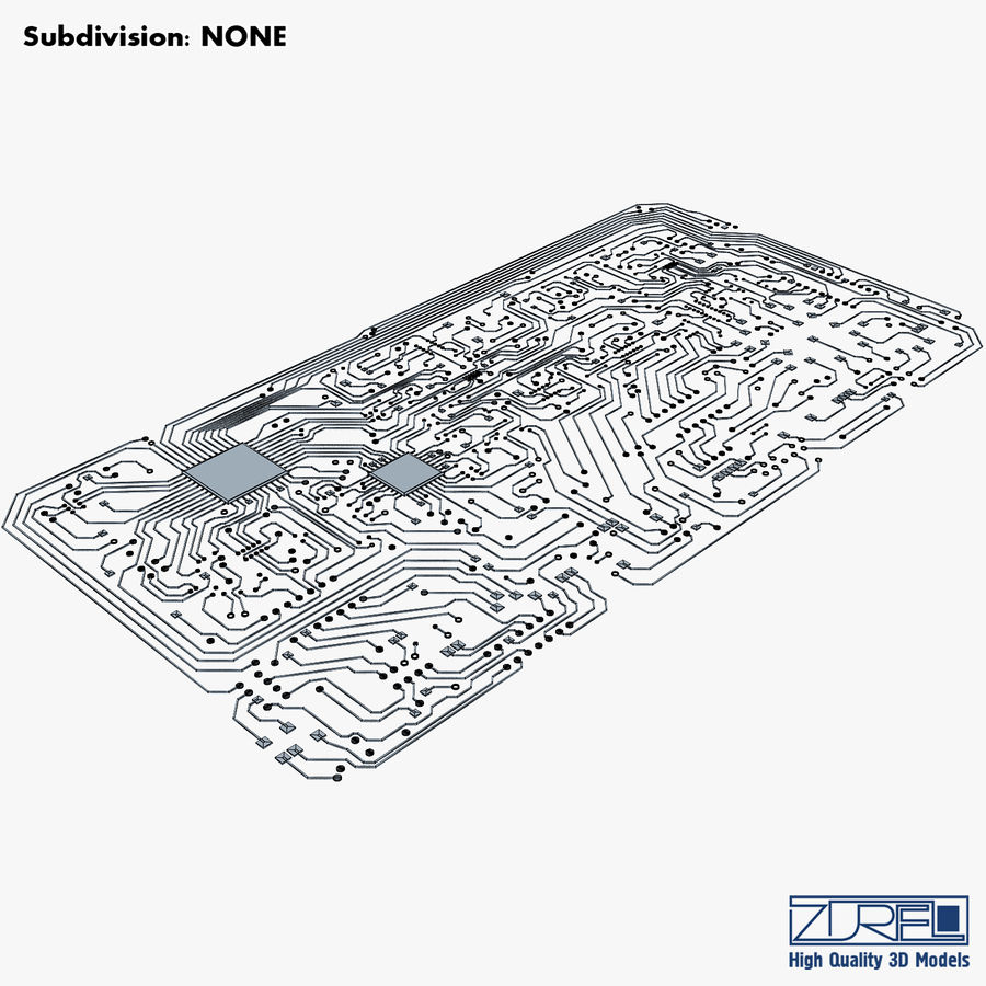 Elektronische Schaltung v 2 royalty-free 3d model - Preview no. 22