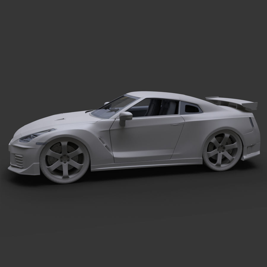 Nissan GT-R Nismo royalty-free 3d model - Preview no. 15