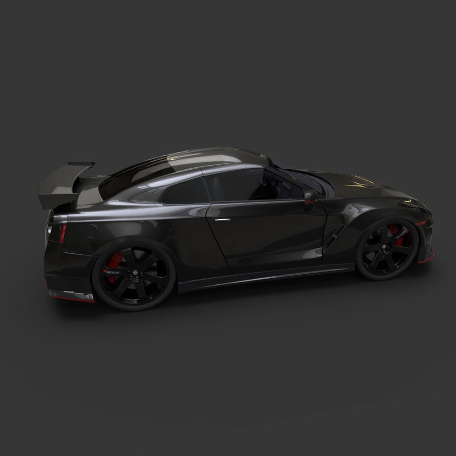 Nissan GT-R Nismo royalty-free 3d model - Preview no. 7